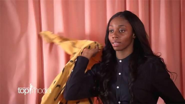 Maria Ngongo war nur kurz in der Show zu sehen. Bild: Printscreen/Pro Sieben