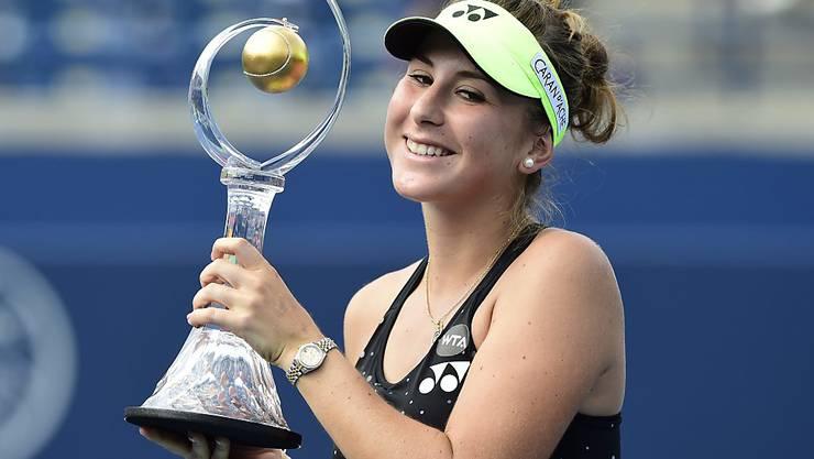 Belinda Bencic rückt dank ihrem Turniersieg in Toronto (Ka) in der Weltrangliste bis auf Platz 12 vor