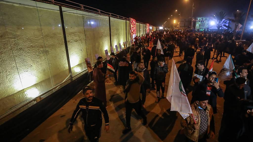Massenprotest im Irak ein Jahr nach US-Angriff auf Irans Top-General