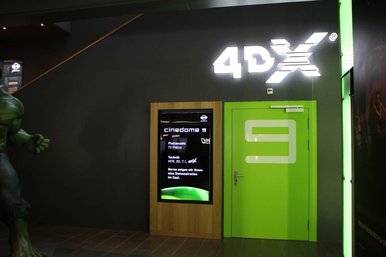 Eingang zum Kinosaal 4DX (© FM1Today)