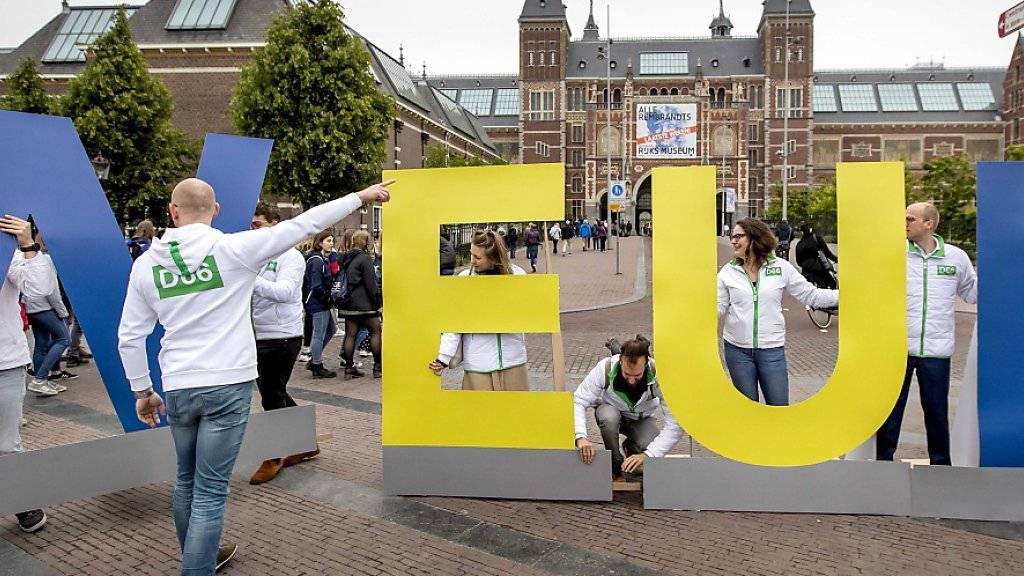 In den Niederlanden hat am Donnerstag die Europawahl begonnen.
