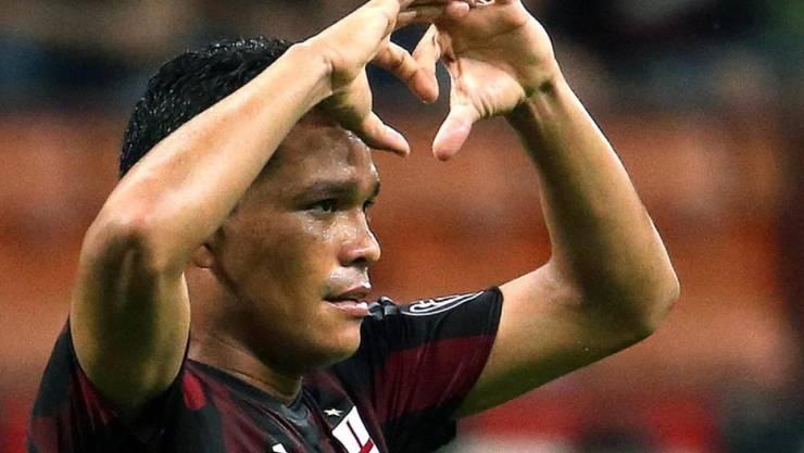 Erstes Tor seit seinem Wechsel von Sevilla zu Milan: Carlos Bacca