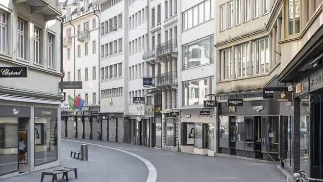 Die Wirtschaft steht still, wie hier am Grendel in Luzern.
