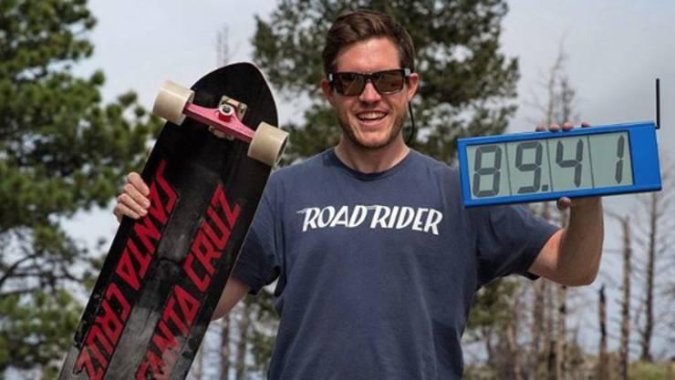 89,41 Meilen in der Stunde oder 143,89 Stundenkilometer: Kyle Wester ist der Schnellste.