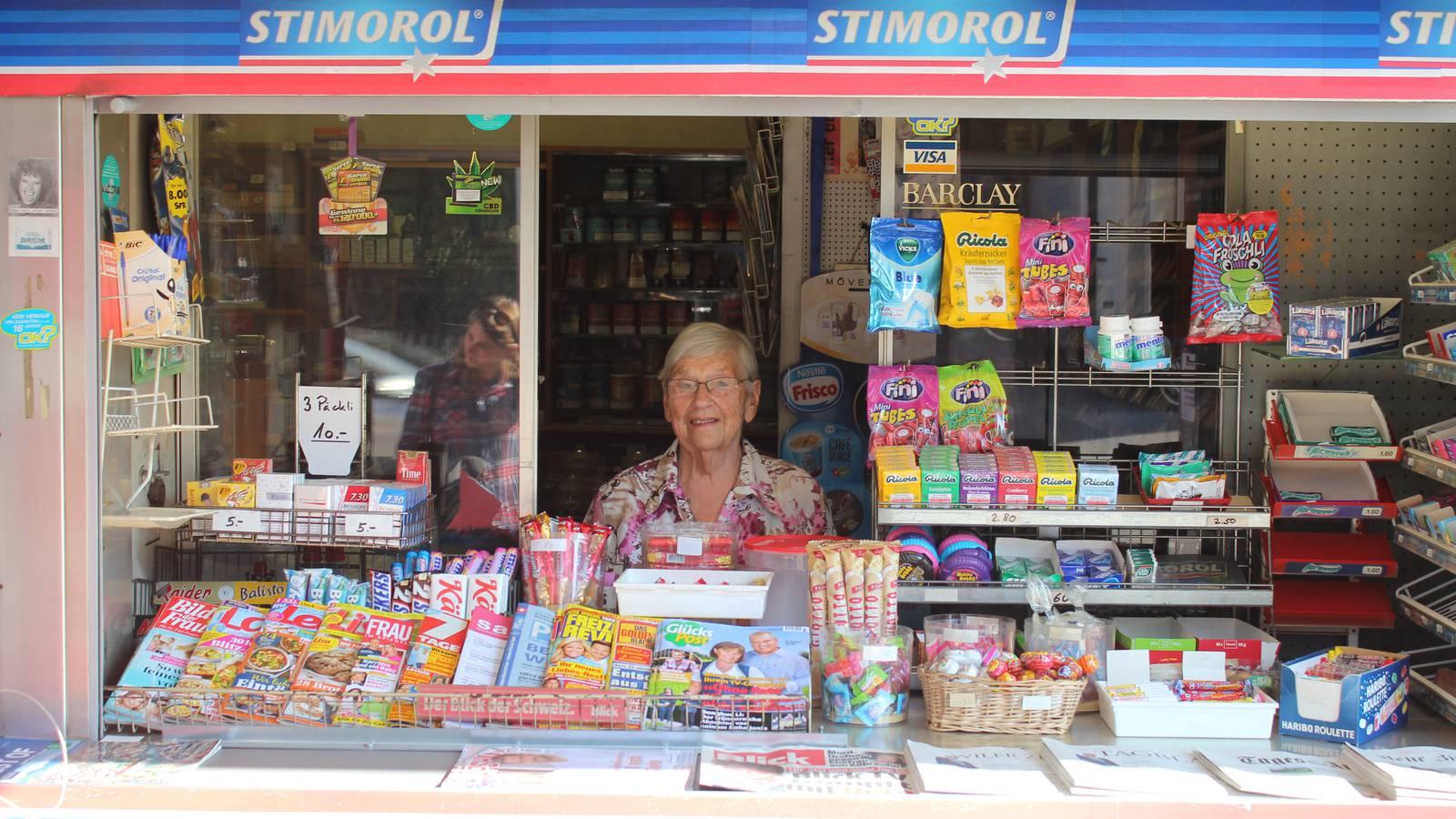 Johanna von Dach führte 42 Jahre lang den Kiosk. Mitte November geht sie in den wohlverdienten Ruhestand. (© FM1Today)