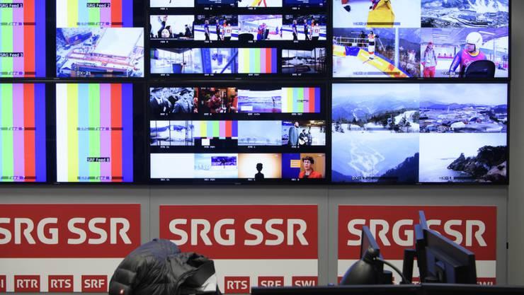 Wegen der Übertragung von sportlichen Grossereignissen - wie hier für die Olympischen Winterspiele in Pyeongchang - steig im letzten Jahr auch der Produktionsaufwand. (Archivbild)