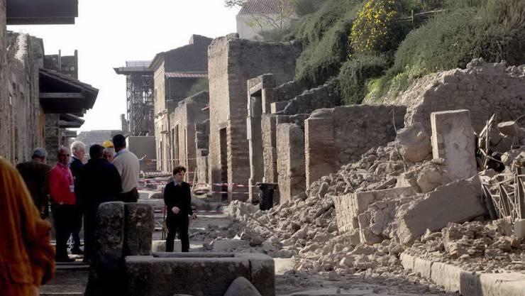 Die antike Römer-Stadt Pompeji am Golf von Neapel: Noch immer gibt es Teile der Stätte, die noch nicht freigelegt sind. (Archivbild)
