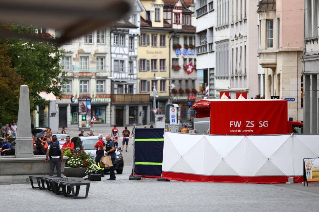 Grosseinsatz in St.Galler Innenstadt
