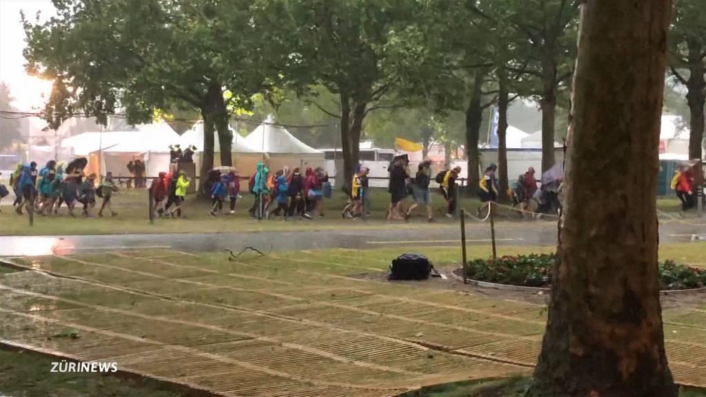 Gewittersturm zwingt Turnfest in Aarau zum Unterbruch