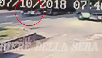 Die italienische Zeitung «Corriere della sera» veröffentlichte dieses Video am Mittwoch.