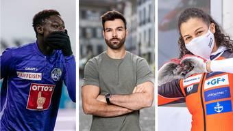 Yvan Alounga, Oliver Hegi und Melanie Hasler hatten trotz Corona ein gutes Jahr.