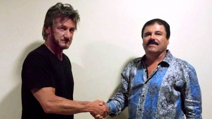 Der Beweis: Sean Penn (links) trifft «El Chapo» zum Interview. Sean Penn