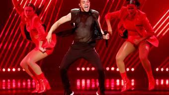 Der Berner Sänger Luca Hänni am Freitag bei der Probe zum Final des Eurovision Song Contest in Tel Aviv.