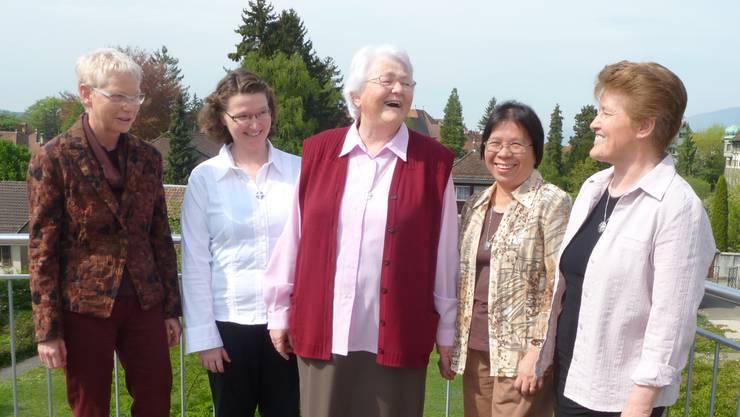 Die SLS-Leitung (v.l.): Priska Good, Monika Rütimann, OberinMarie-Theres Rotzetter, Estela Gabutan und Käthy Arnold.