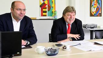 Christian Krämer (l.) und Norbert Schröder schreiben mit der Papierfabrik wieder Gewinne.