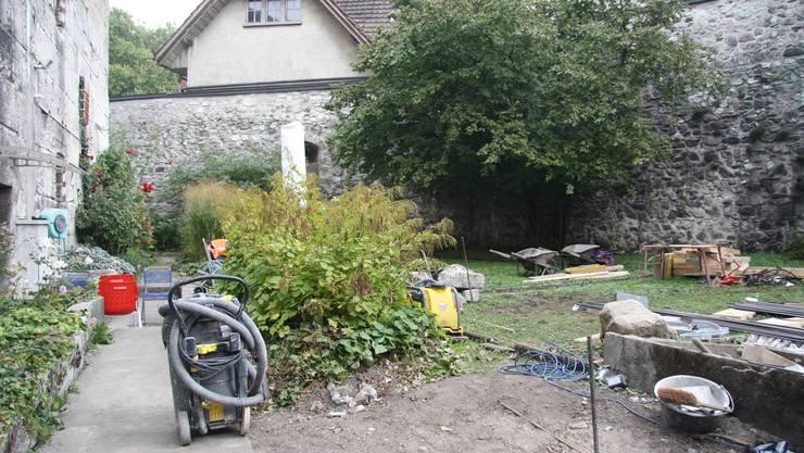 Im ehemaligen Untersuchungsgefängnis in Solothurn muss die Hofmauer wegen Einsturzgefahr saniert werden.