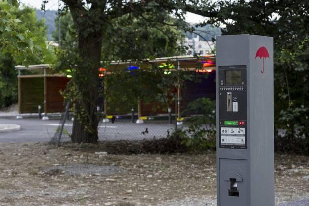 Der Ticketautomat bei den Sexboxen