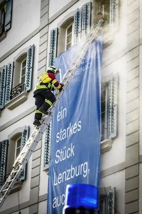 Impressionen von der Feuerwehr-Übung in Lenzburg