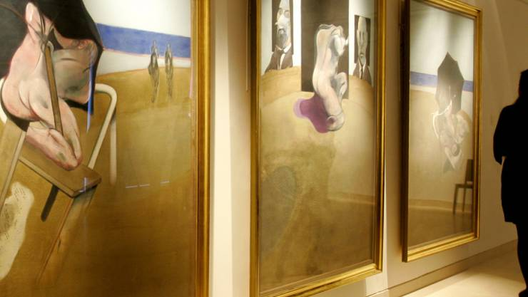 """In Spanien konnten Kunstdiebe im vergangenen Juni fünf Gemälde von Francis Bacon entwenden (im Bild Francis Bacons """"Triptych 1974-1977"""", Symbolbild)"""
