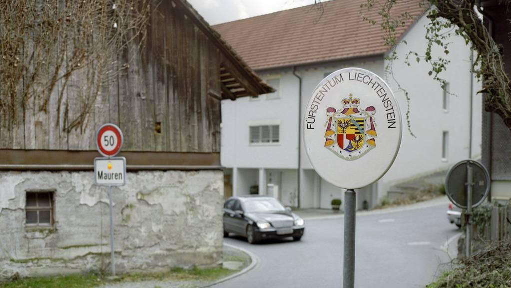 Die liechtensteinische Landesgrenze