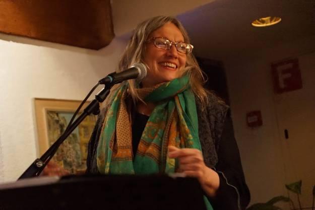 Corin Curschellas die stimmstarke Grande Dame des rätoromanischen Liedes gastierte im Gasthof zur Waag in Bad Zurzach