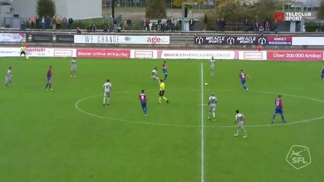 FC Chiasso - FC Aarau: 17. Minute, Zoran Josipovic, 1:0