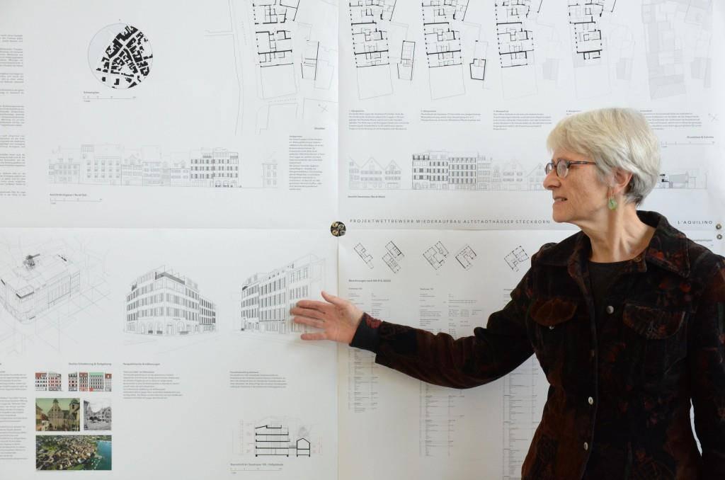 Architektin Cornelia Bein präsentierte heute die Pläne für die neuen Überbauung an der Seestrasse in Steckborn.