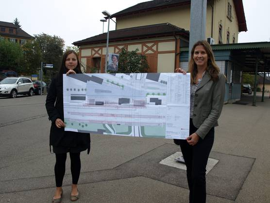 Kathrin Richter, Behindertengerechtes Bauen SBB, und Claudia Erni, Gesamtprojektleiterin SBB.