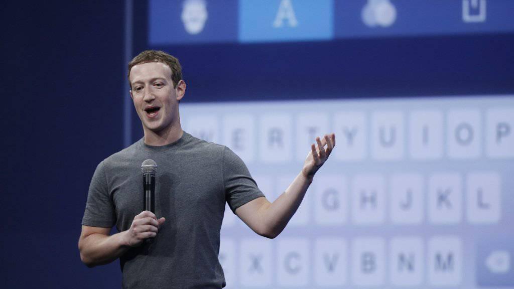 Will sich mit China auseinandersetzen: Facebook-Gründer Mark Zuckerberg (Archiv)