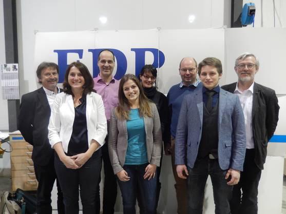 Konrad Gisler, Manuela Misteli, Stephen Vögeli, Sabrina Weisskopf, Karin Studer, Stefan Bühler, Lukas Lohm, Jan Noordtzij (v.l.)