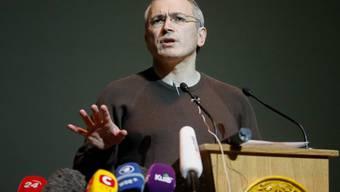 Michail Chodorkowski vor zwei Wochen in Kiew