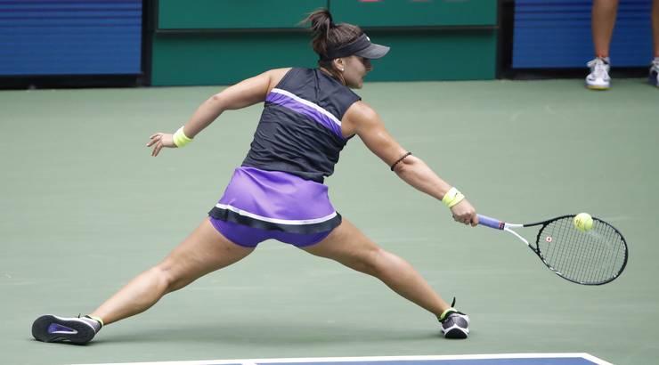 Bianca Andreescus voller Körpereinsatz wurde belohnt.