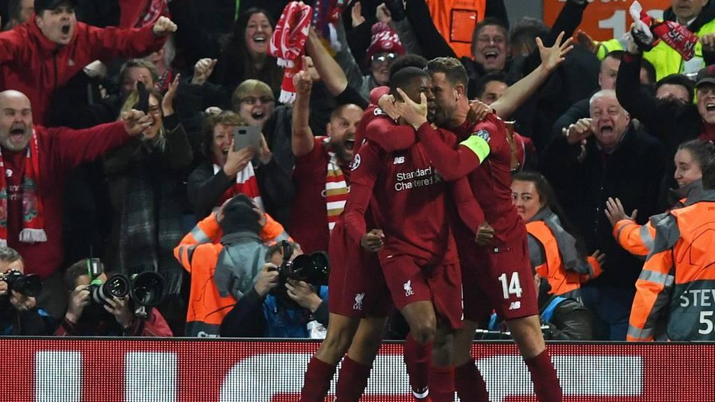 Jubel bei den Liverpool-Spielern.