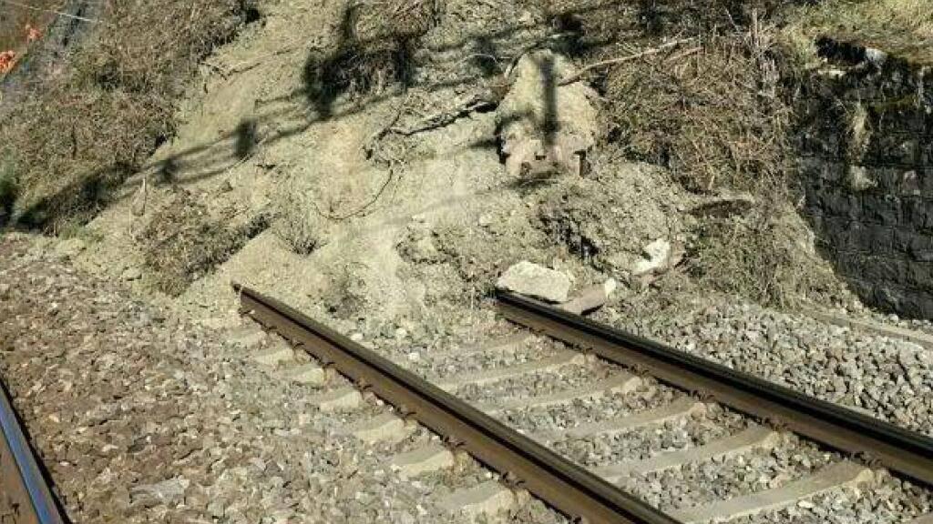 Ein Erdrutsch bei La Conversion (VD) hat am Freitagmorgen die Linie Lausanne - Freiburg unterbrochen.