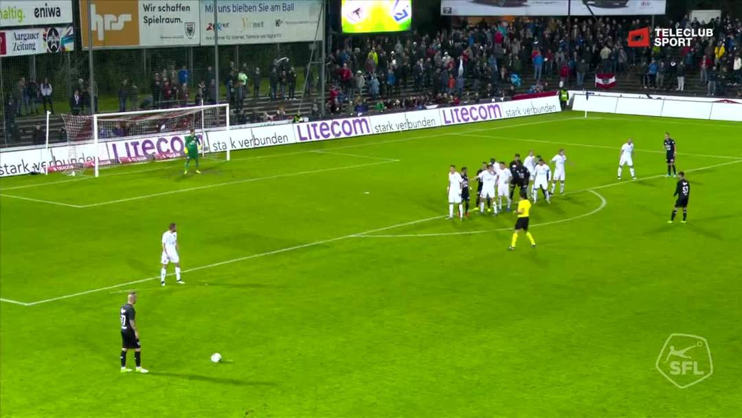Challenge League 2019/20, 11. Runde:  FC Aarau - FC Lausanne-Sport, 68. Minute
