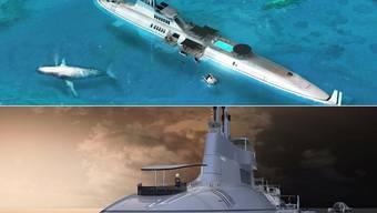 Die entworfene Unterwasser-Yacht Migaloo