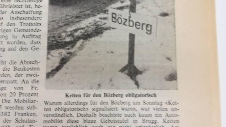 Ein Zeitungsausschnitt vom 30. Dezember 1968 aus dem Aargauer Tagblatt.
