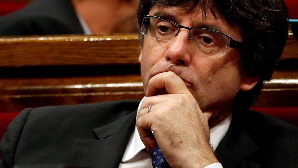 Der abgesetzte Regierungspräsident von Katalonien, Carles Puigdemont, hat sich in Belgien den Behörden gestellt und ist vorläufig festgenommen. (Archivbild)
