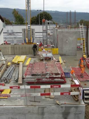 Baustelle Schulhaus in Münchwilen