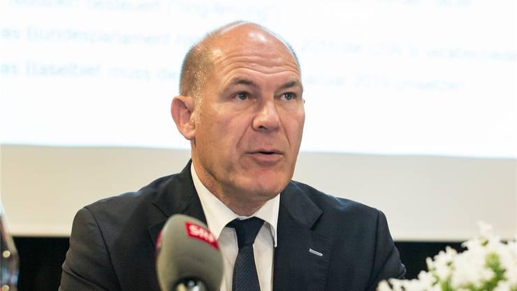Für Finanzdirektor Anton Lauber ist der Entscheid zum Finanzhaushaltsgesetz auch ein wichtiger Formtest.Archiv/Kenneth Nars