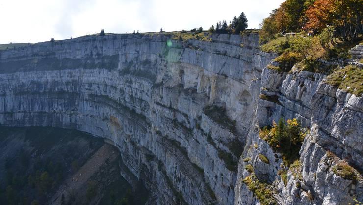 Der Creux du Van, im Kanton Neuenburg: ein imponierender Anblick, keine 100 Kilometer von Olten entfernt.
