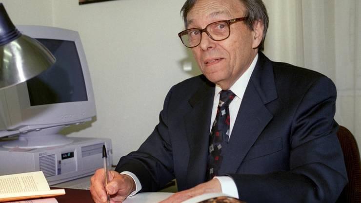 Der Genfer Jean Starobinski (1920-2019) gilt als ein Autor, der das kritische Denken weltweit geprägt hat. Ihm ist ab heute eine digitale Ausstellung gewidmet - ein experimentelles Format, mit dem Besucherinnen und Besucher die Inhalte nach eigenen Interessen anordnen können. (Archivbild)