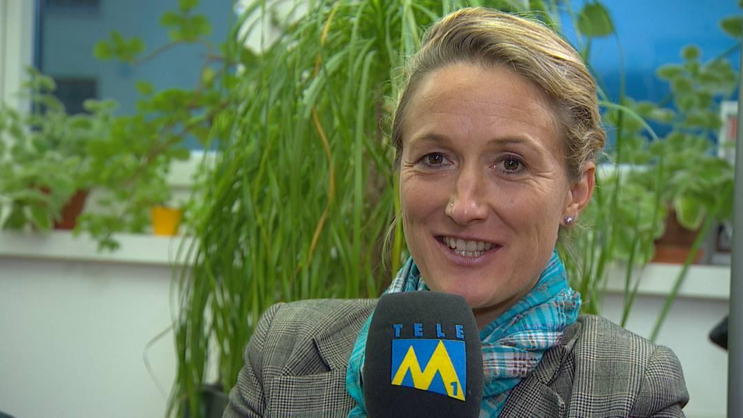 Regierungsrätin Susanne Hochuli wünscht Tele M1 genug Ressourcen
