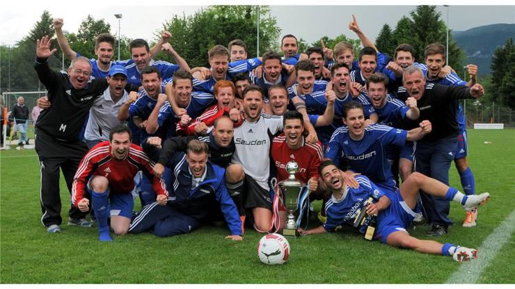 Der FC Subingen gewann den Cup 2002, 2010 sowie 2014 (Bild) .