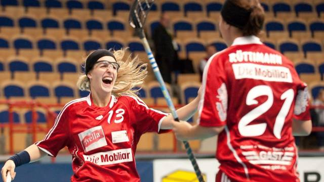 Andrea Hofstetter und Corin Rüttimann durften auch gegen Russland mehrmals jubeln