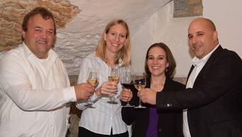 Die frisch gewählten Grossräte (von links) Martin Wernli, Maya Meier, Tonja Kaufmann und Dominik Riner.