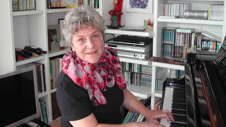 Das Klavierspielen hat sich Liliane Fluri als kleines Mädchen selbst beigebracht.