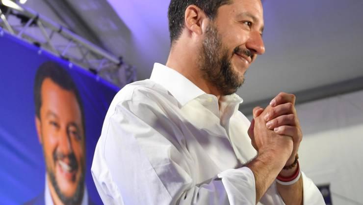 Matteo Salvini kann nach dem Sieg an der Europawahl strahlen. Der Lega-Chef kündigte an, sich in Brüssel für eine Neuverhandlung der EU-Regeln einsetzen zu wollen.