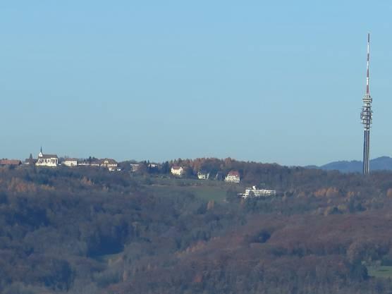 Fernsehturm Chrischona ( Das war der Blick auf unserer Wanderung)