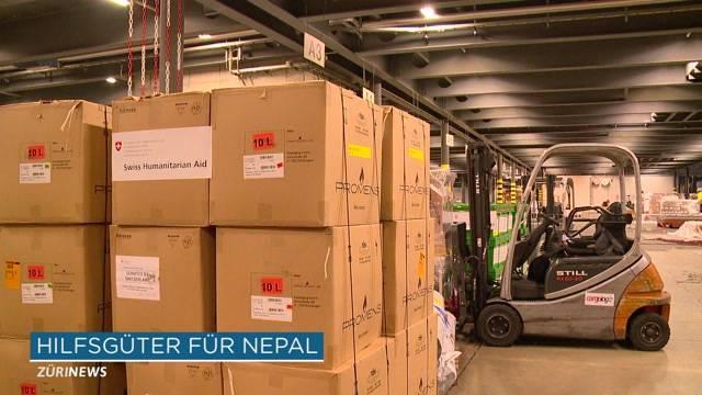 38 Tonnen Hilfsgüter für Erdbebenopfer in Nepal